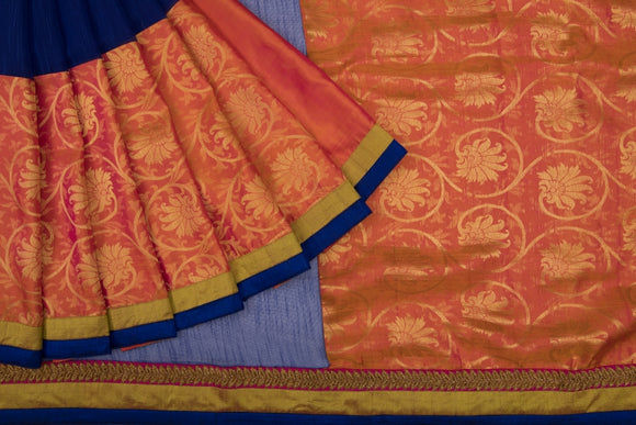 Trisha's Orange & Blue Colored Designer Saree