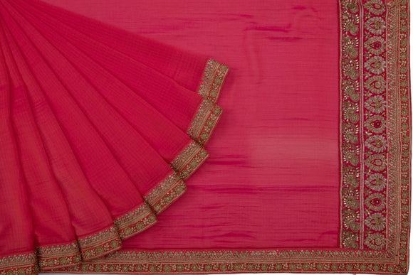 Trisha's Red Colored Designer Saree