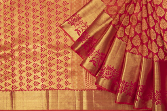 Trisha's Surpassing Red Colored Kanjivaram Pattu Saree