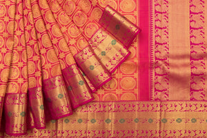 Trisha's Elegant Red Colored Festive Wear Kanchipuram Stylised Saree
