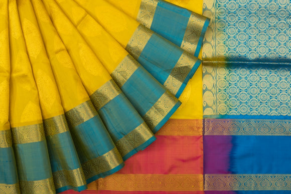 Trisha's Multi Colored Handloom Silk Saree