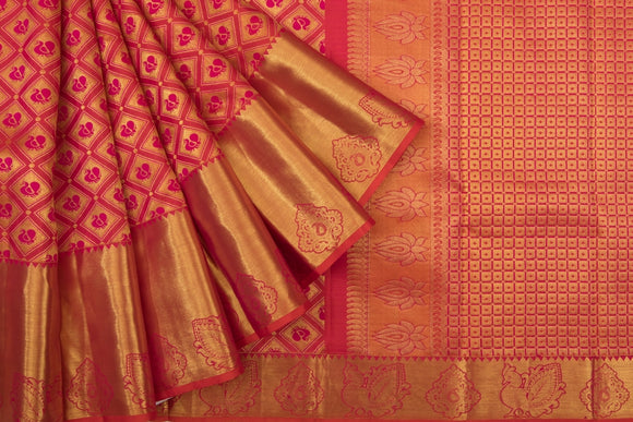 Trisha's Elegant Red Colored Kanchipuram Silk Saree