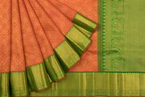 Trisha's Eye-catching Orange Colored Pattu Saree