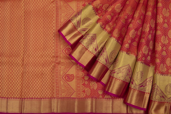 Trisha's Beautiful Red Colored Pattu Saree
