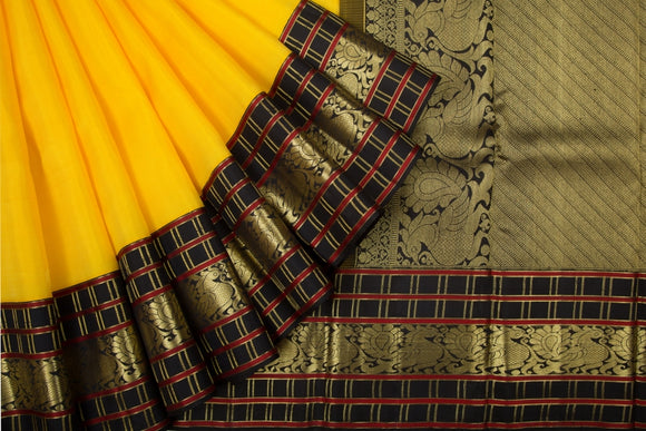 Trisha's Lovely Yellow Party Wear Gadwal Handloom Silk Saree