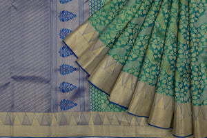 Trisha's Green & Blue Color Handloom Saree