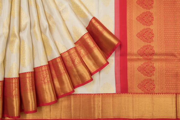 Trisha's Pleasance Off-White Colored Kanchipuram Silk Saree