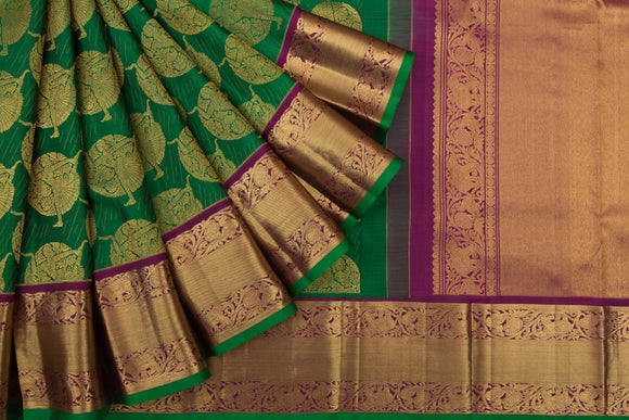 Trisha's Adorning Green Colored Kanchipuram Pattu Saree