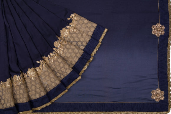 Trisha's Ethnic Dark Blue Color Designer Saree