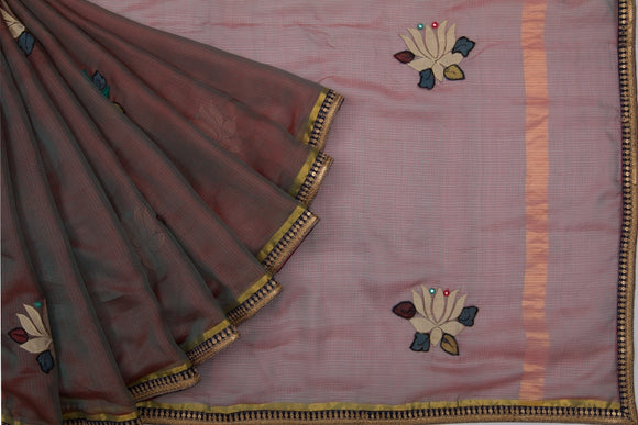 Trisha's Marvelous Brown Color Designer Saree