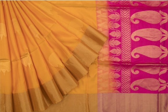 Trisha's Entrancing Orange Color Handloom Silk Saree