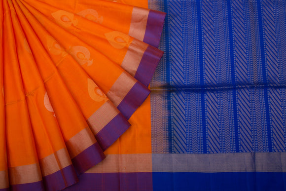 Trisha's Extraordinary Orange Colored Handloom Silk Saree
