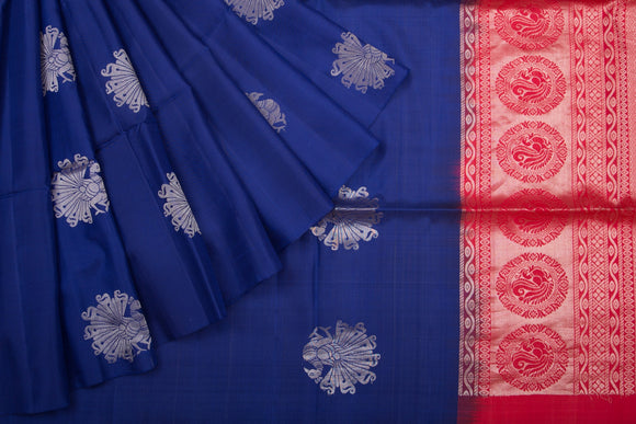 Trisha's Charming Royal Blue Colored Handloom Silk Saree