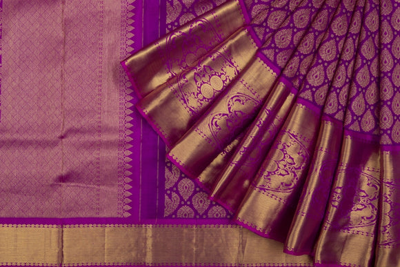 Trisha's Excellent Purple Colored Kanchipuram Silk Saree