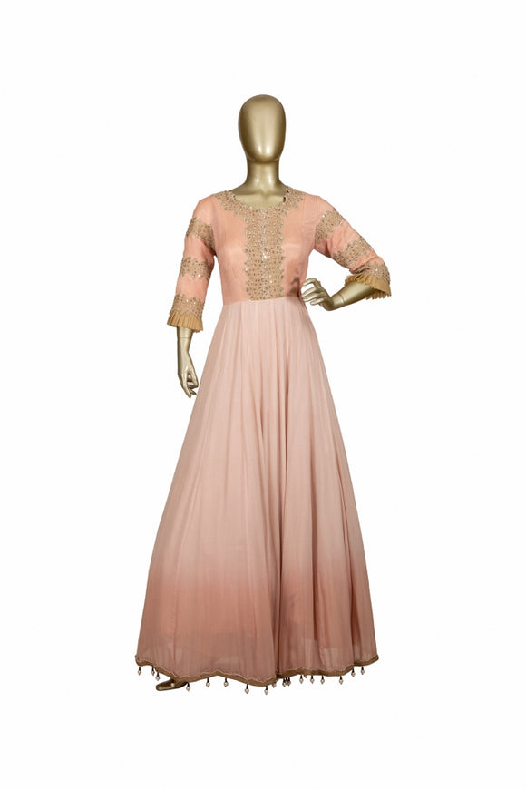 Trisha's Light Pink Color Ethnic Gown