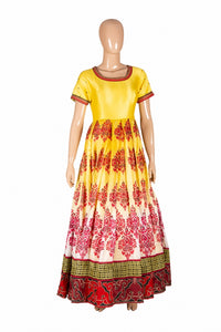 Trisha's Glorious Yellow Colored Embroidered Party Wear Gown