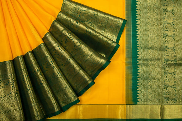 Trisha's Demanding Orange Colored Kanchipuram Woven Silk Saree