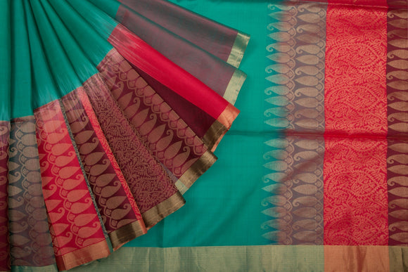 Trisha's Alluring Multi Colored Festive Wear Handloom Silk Saree