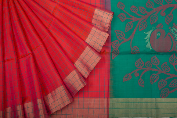 Trisha's Impressive Red Colored Casual Wear Handloom Silk Saree