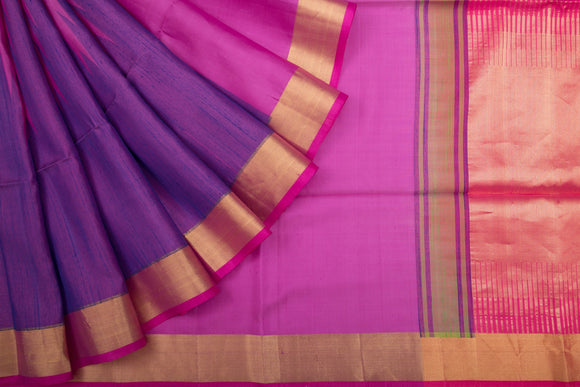 Trisha's Classy Purple-Pink Colored Festive Wear Handloom Silk Saree