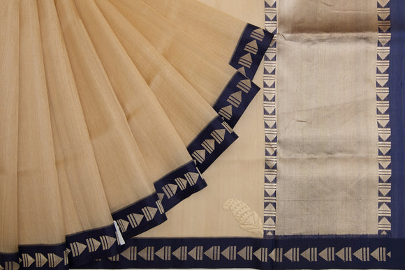 Trisha's Pretty Beige Colored Festive Wear Linen Handloom Saree