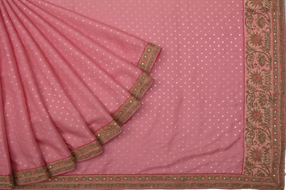 Trisha's Entrancing Rose Pink Colored Designer Saree