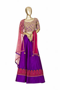 Trisha's Marvellous Purple Colored Embroidered Lehenga Choli
