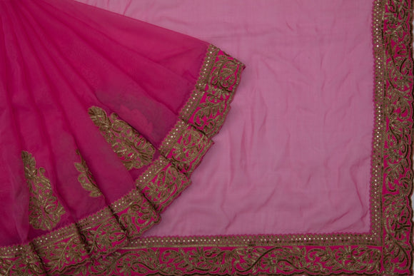 Trisha's Groovy Magenta Pink Colored Designer Saree