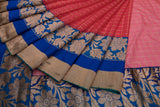 Trisha's Gleaming Red & Blue Colored Designer Saree