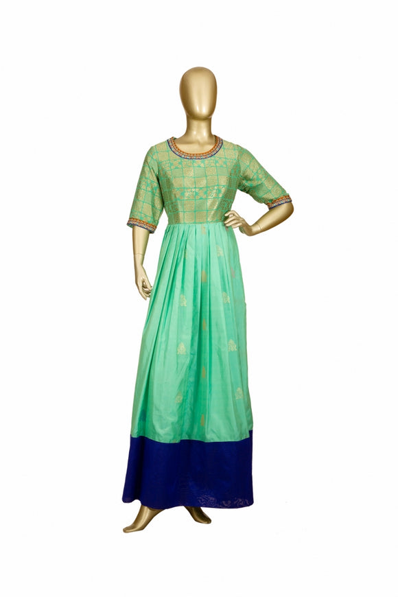Trisha's Gorgeous Green Colored Designer Party Wear Gown