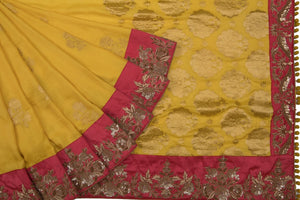 Trisha's Marvelous Yellow Colored Festive Wear Fancy Saree