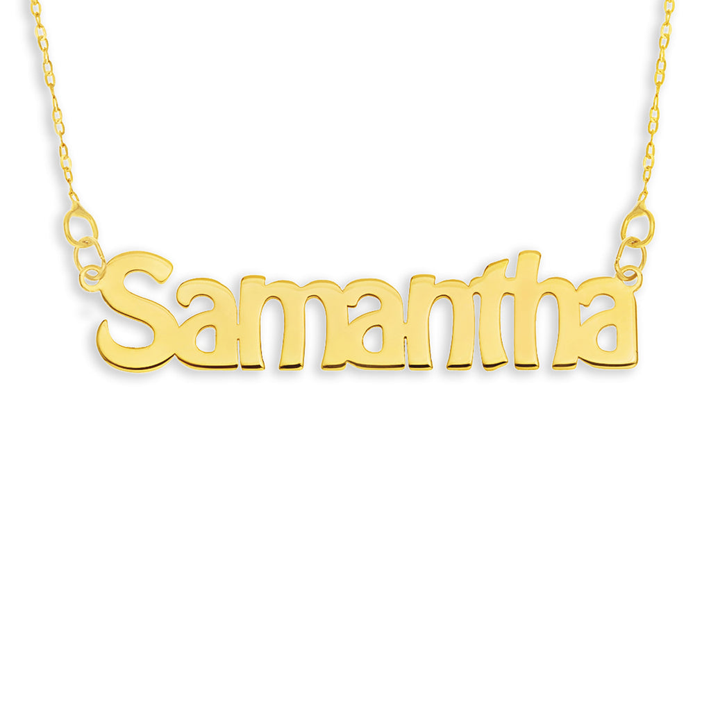 9ct Gold Name Necklace - Hobo Dee