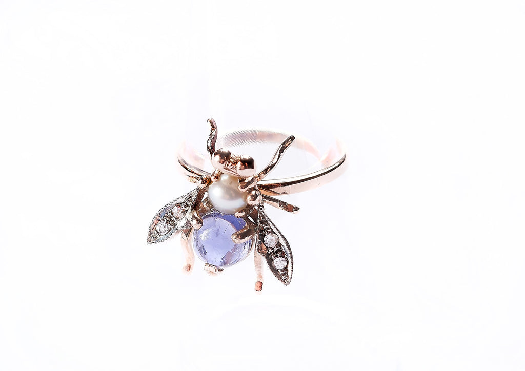 'Bee Mine' Jewelled Bee Ring