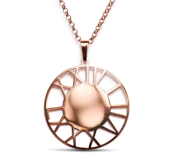 Roman Numeral Custom Date Medallion, Rose Gold Plate