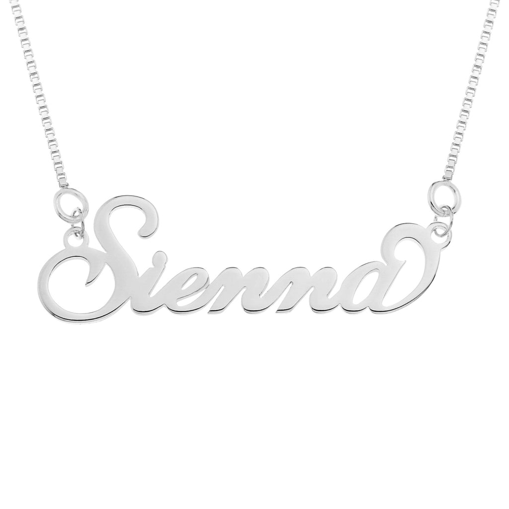 Silver 'Carrie' Style Name Necklace