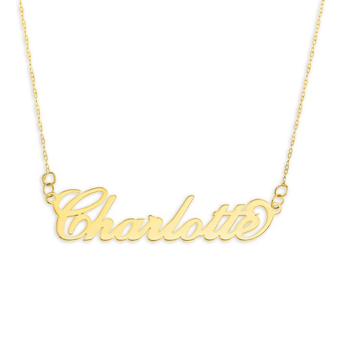9ct Solid Gold Carrie Style Name Necklace Couturie