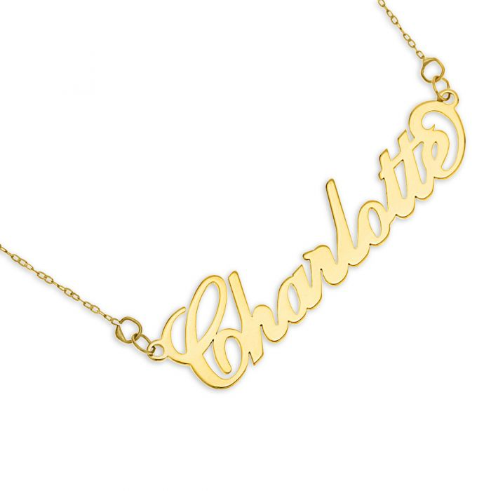 9ct Solid Gold 'Carrie' Style Name Necklace