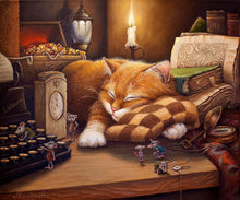 "VanGo Painting By Numbers  - Sleeping Cat (16""x20"" / 40x50cm)"
