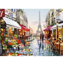 "VanGo Painting By Numbers - Paris Street (16""x20"" / 40x50cm)"