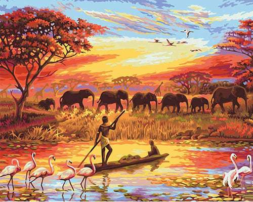 VanGo Painting By Numbers - Beauty of Africa (16