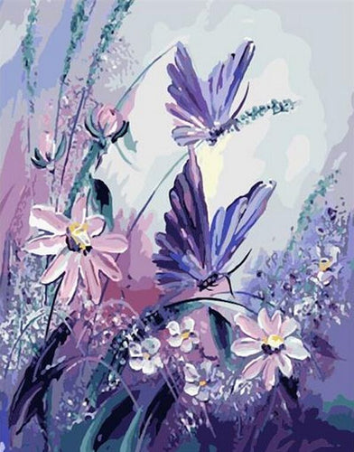 VanGo Painting By Numbers - Purple Butterflies (16