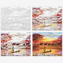 "VanGo Painting By Numbers - Beauty of Africa (16""x20"" / 40x50cm)"