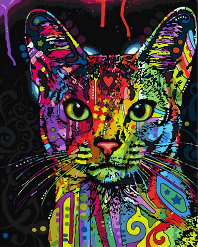 VanGo Painting By Numbers - Abstract Cat (16