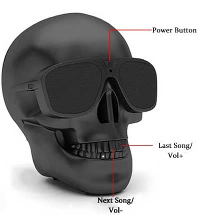 WeberCool Skull Wireless Bluetooth Speaker