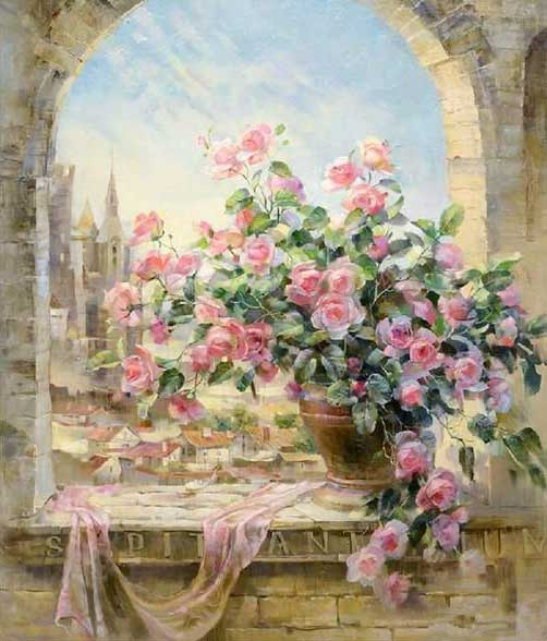 VanGo Painting By Numbers - Pink Roses (16