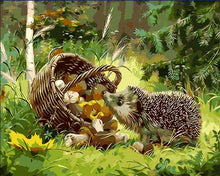 "VanGo Painting By Numbers - Little Hedgehog (16""x20"" / 40x50cm)"