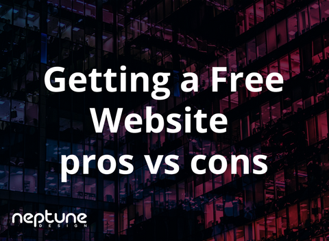 Getting a free website: pros vs cons