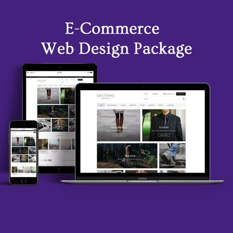 E-commerce Responsive Design Website 10 Pages