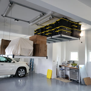 4x8 ft. Auxx-Lift Premium Garage Storage Lift - White Finish w/ Remote ($1089-$1459) FREE SHIPPING