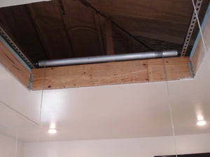 "2x4 ft. / 18""x48"" Auxx Attic-Lift Premium 1400 (400 lb) Garage Attic Lift - Silver Finish + FREE SHIPPING"